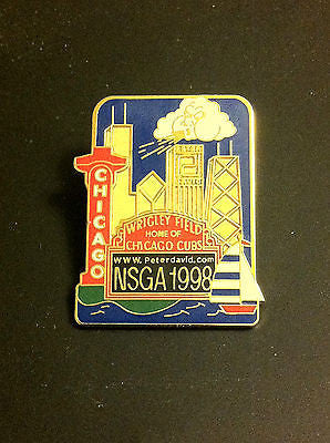 MLB NSGA 1998 CHICAGO CUBS, WRIGLEY FIELD LAPEL PIN