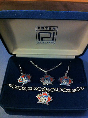 MLB TORONTO BLUE JAYS JEWELRY SET, CIRCA 1996, NEW