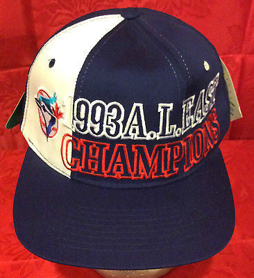MLB 1993 A.L. EAST CHAMPIONS ADJUSTABLE HAT, TORONTO BLUE JAYS, NEW, VINTAGE