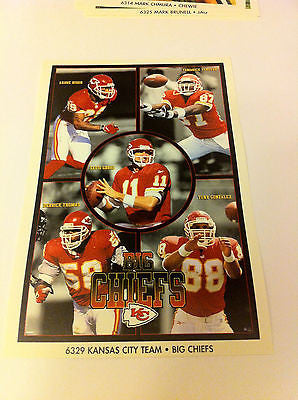 NFL GRBAC, RISON+ MINI POSTER, 4 X 6 INCHES, KANSAS CITY CHIEFS
