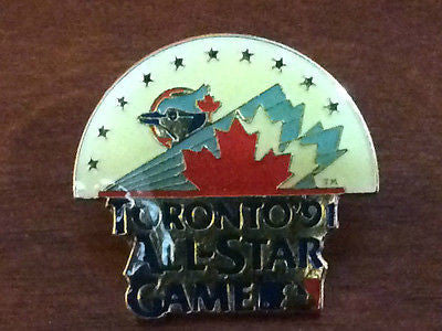 MLB TORONTO BLUE JAYS, 1991 ALLSTAR GAME, LAPEL PIN,  PACK OF 4
