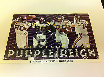 NFL CRIS CARTER+ MINI POSTER, 4 X 6 INCHES, FOOTBALL, MINNESOTA VIKINGS