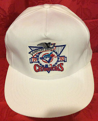 MLB 1992 AMERICAN LEAGUE CHAMPS ADJUSTABLE HAT, TORONTO BLUE JAYS, NEW, VINTAGE