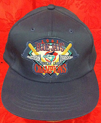MLB 1991 A.L. EAST CHAMPIONS ADJUSTABLE HAT, TORONTO BLUE JAYS, NEW, VINTAGE