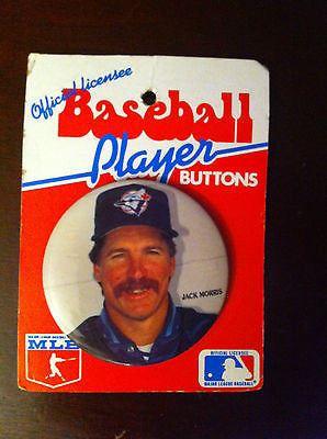 MLB JACK MORRIS PLAYER BUTTON, TORONTO BLUE JAYS, 1992