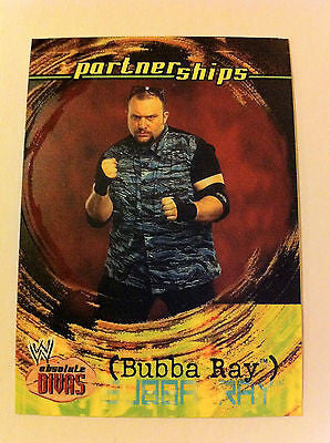 WWE WWF ABSOLUTE DIVAS PARTNERSHIPS BUBBA RAY NM-MINT, FLEER 2002