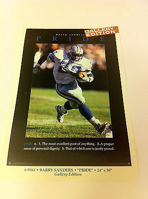 NFL BARRY SANDERS GALLERY MINI POSTER, 4 X 6 INCHES, DETROIT LIONS