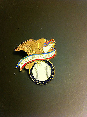 MLB AMERICAN LEAGUE EAGLE LOGO LAPEL PIN, BASEBALL, CIRCA 1988, VINTAGE