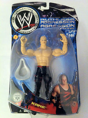 WWE KANE, JAKKS RUTHLESS AGGRESSION ACTION FIGURE CANADIAN VERSION, NIP, 2003