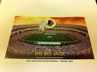 NFL JK COOKE STADIUM MINI POSTER, 4 X 6 INCHES, WASHINGTON REDSKINS