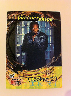 WWE WWF ABSOLUTE DIVAS PARTNERSHIPS BOOKER T NM-MINT, FLEER 2002