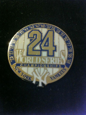 MLB NEW YORK YANKEES 1998 WORLD SERIES CHAMPIONSHIP LAPEL PIN