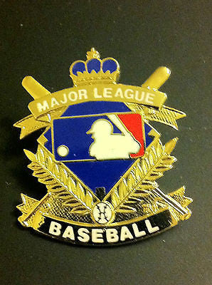 MLB MAJOR LEAGUE BASEBALL CREST LOGO LAPEL PIN, CIRCA 1996, VINTAGE