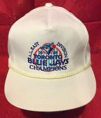 MLB 1989 A.L. EAST CHAMPIONS ADJUSTABLE HAT, TORONTO BLUE JAYS, NEW, VINTAGE