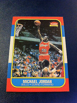 NBA MICHAEL JORDAN, ROOKIE CARD #57, FLEER REPRINT, CHICAGO BULLS, MINT
