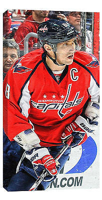 NHL ALEX OVECHKIN WASHINGTON CAPITALS 14X28 ART CANVAS