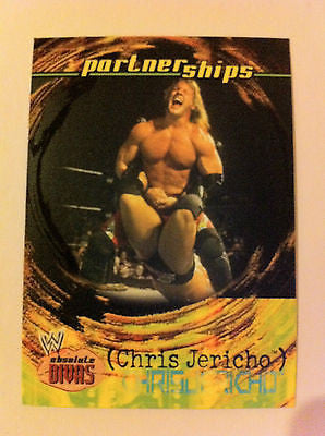 WWE WWF ABSOLUTE DIVAS PARTNERSHIPS CHRIS JERICHO NM-MINT, FLEER 2002