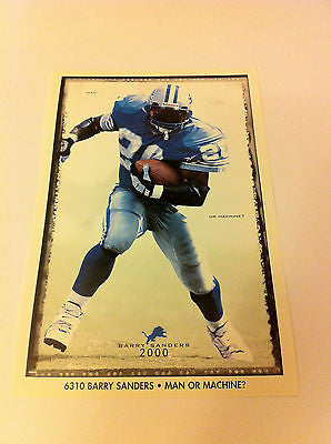 NFL BARRY SANDERS MINI POSTER, 4 X 6 INCHES, DETROIT LIONS