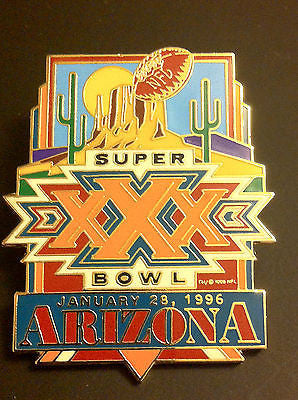NFL SUPER BOWL XXX LAPEL PIN, CIRCA 1996 VINTAGE, ARIZONA, COWBOYS, STEELERS