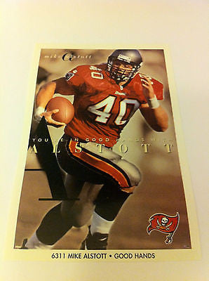 NFL MIKE ALSTOTT MINI POSTER, 4 X 6 INCHES, TAMPA BAY BUCCANEERS
