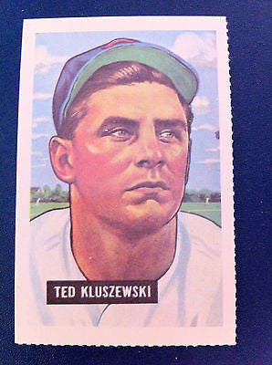 MLB TED KLUSZEWSKI, 1951 BOWMAN GUM INC. #143 DOVER REPRINT EX-NM