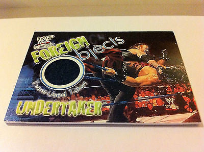 WWE WWF WRESTLEMANIA FOREIGN OBJECTS UNDERTAKER NM-MINT, FLEER, 2001