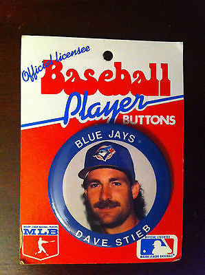MLB DAVE STIEB PLAYER BUTTON, TORONTO BLUE JAYS, 1991