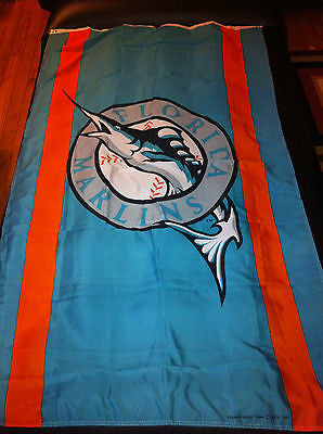 "MLB FLORIDA MARLINS, CIRCA 1991, BANNER, FLAG, 34"" x 60"" (INCHES)"
