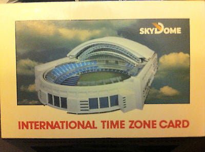 TORONTO SKYDOME INTERNATIONAL TIME ZONE CARD 1989 (MLB, CFL, NBA)