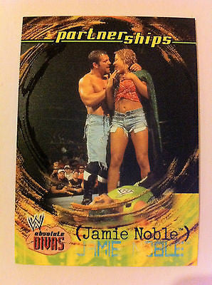 WWE WWF ABSOLUTE DIVAS PARTNERSHIPS JAMIE NOBLE NM-MINT, FLEER 2002