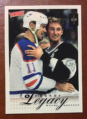 NHL WAYNE GRETZKY 1999-00 UPPER DECK VICTORY, HOCKEY LEGACY, CARD #415, NM-MINT