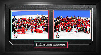 TEAM CANADA FRAMED 8X10 PHOTOS - MENS & WOMENS 2014 OLYMPICS CELEBRATION