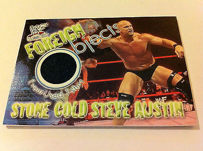 WWE WWF WRESTLEMANIA FOREIGN OBJECTS STONE COLD STEVE AUSTIN CARD EX-NM, FLEER, 2001