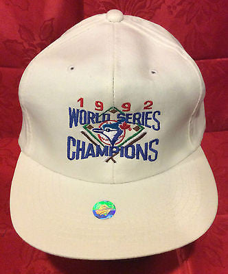 MLB 1992 WORLD SERIES CHAMPS ADJUSTABLE HAT, TORONTO BLUE JAYS, NEW, VINTAGE