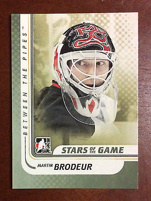 NHL MARTIN BRODEUR 2010-11 ITG BETWEEN THE PIPES CARD #120, NM-MINT