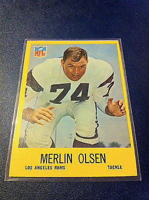 NFL MERLIN OLSEN CARD #94, 1967 LOS ANGELES RAMS, NM