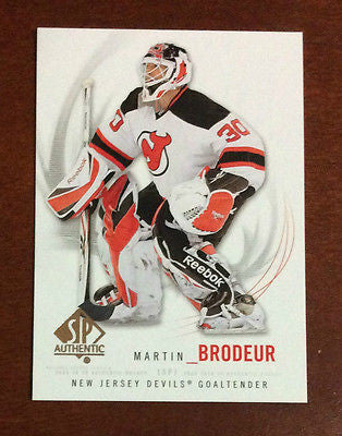 NHL MARTIN BRODEUR 2009-10 UPPER DECK SP AUTHENTIC CARD #30, NM-MINT