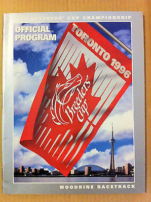 HORSE RACING 1996 BREEDER'S CUP OFFICIAL PROGRAM, TORONTO, WOODBINE RACETRACK