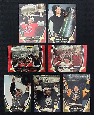 NHL 2006-07 UPPER DECK POWER PLAY STANLEY CUP CELEBRATIONS 7 CARD INSERT SET #CC1 - CC7