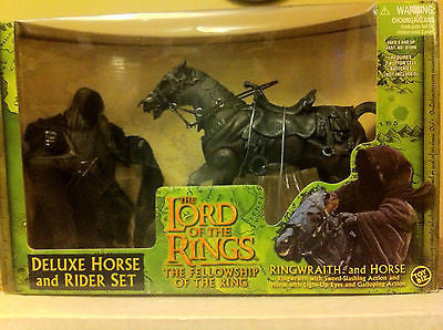 LOTR LORD OF THE RINGS, FELLOWSHIP OF THE RING, DELUXE HORSE & RIDER SET 2001