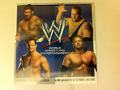 WWE WRESTLING 2005, 16-MONTH MINI CALENDAR, BIG SHOW, EDDIE, BENOIT, TRIPLE H