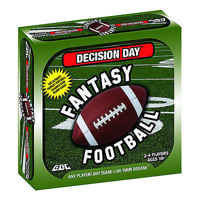 DECISION DAY FANTASY FOOTBALL BOARD GAME, TRADING CARDS, NFL