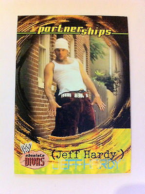 WWE WWF ABSOLUTE DIVAS PARTNERSHIPS JEFF HARDY NM-MINT, FLEER 2002