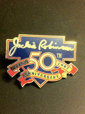 MLB JACKIE ROBINSON 50TH ANNIVERSARY LAPEL PIN, 1997
