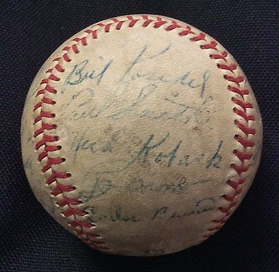 MLB 1953 PITTSBURGH PIRATES TEAM AUTOGRAPHED BASEBALL, AUTHENTICATED BY JSA