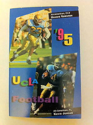 UCLA BRUINS 1995 POCKET SCHEDULE, COLLEGE FOOTBALL, NCAA, MILLER, SHARP'S