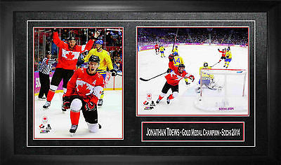 TEAM CANADA JONATHAN TOEWS FRAMED 8X10 PHOTOS -  2014 OLYMPICS SOCHI