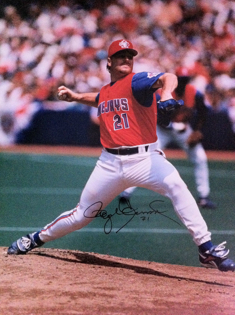 MLB ROGER CLEMENS AUTOGRAPHED 8X10 PHOTO, TORONTO BLUE JAYS, 1997 CANADA DAY