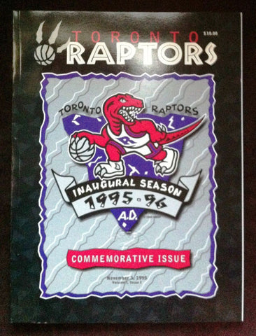 NBA TORONTO RAPTORS INAUGRAL SEASON,1995-96 OPENING NIGHT PROGRAM, WITH CORPORATE SEAL