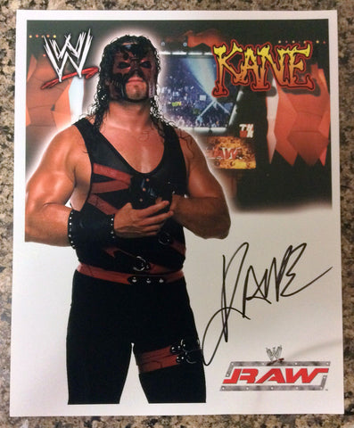 WWE KANE AUTOGRAPHED 8X10 PHOTO, EARLY 2000's, RAW